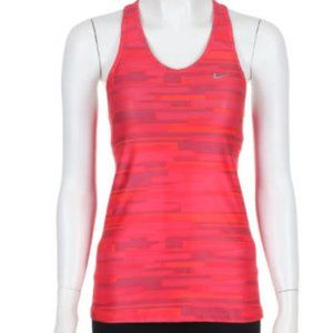 NIKE Dri Fit Shaping Printed Women Tank Top - M